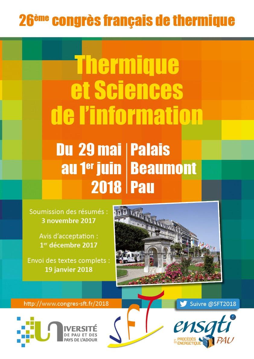 Congrès SFT : thermique et sciences de l'information