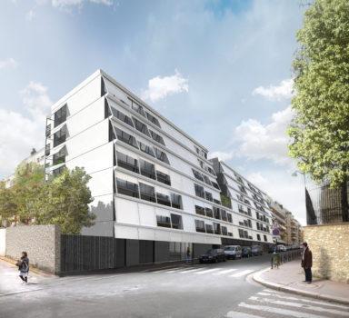 Construction d'une crèche, d'un C.H.U. et de logements familiaux à Paris (75)