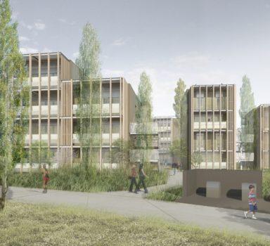 Construction de logements ZAC quartier de la mairie secteur des sécheries à Bègles (33)