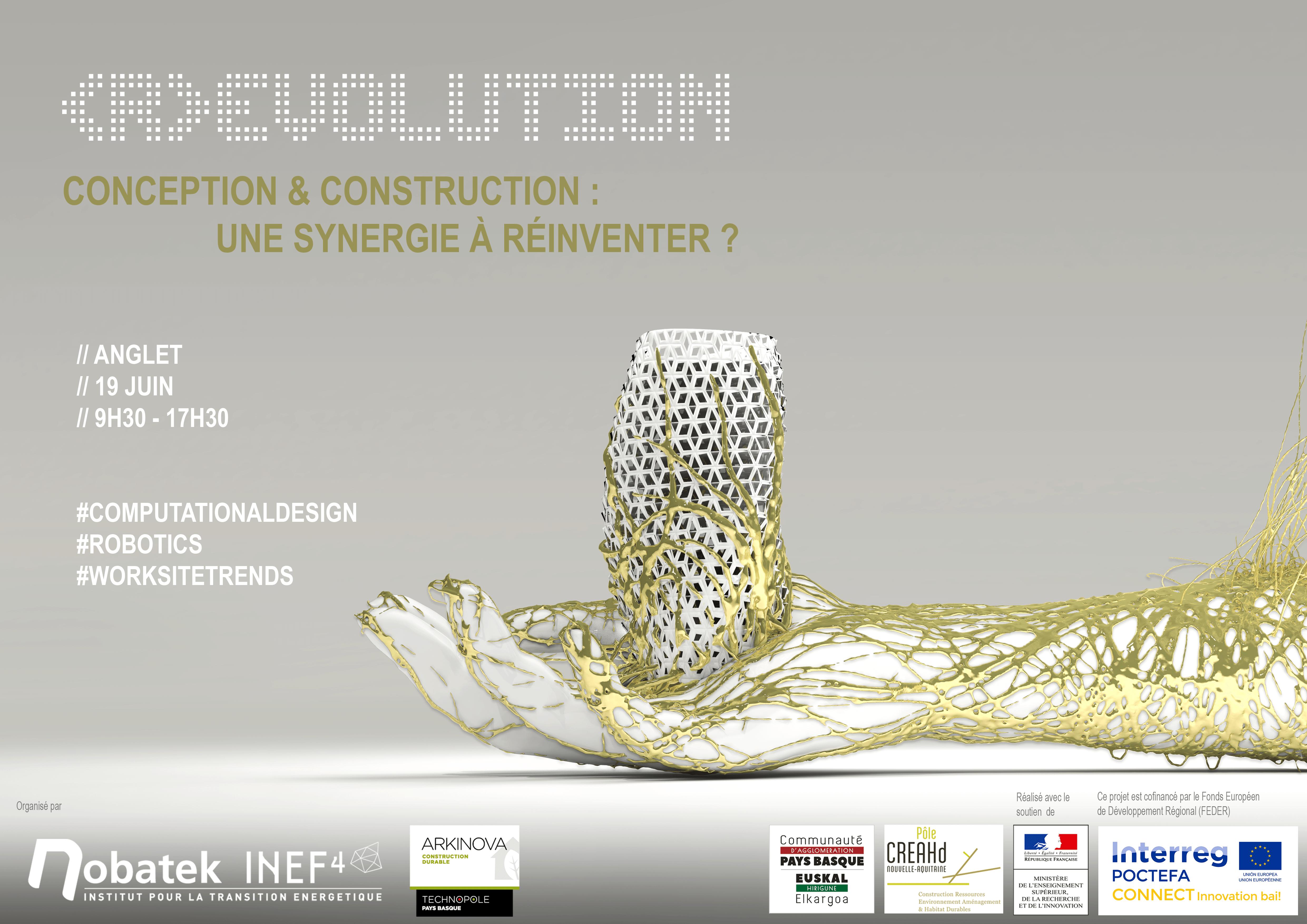 Journée Robotique et construction : révolution : Conception & Construction : une synergie à réinventer ?
