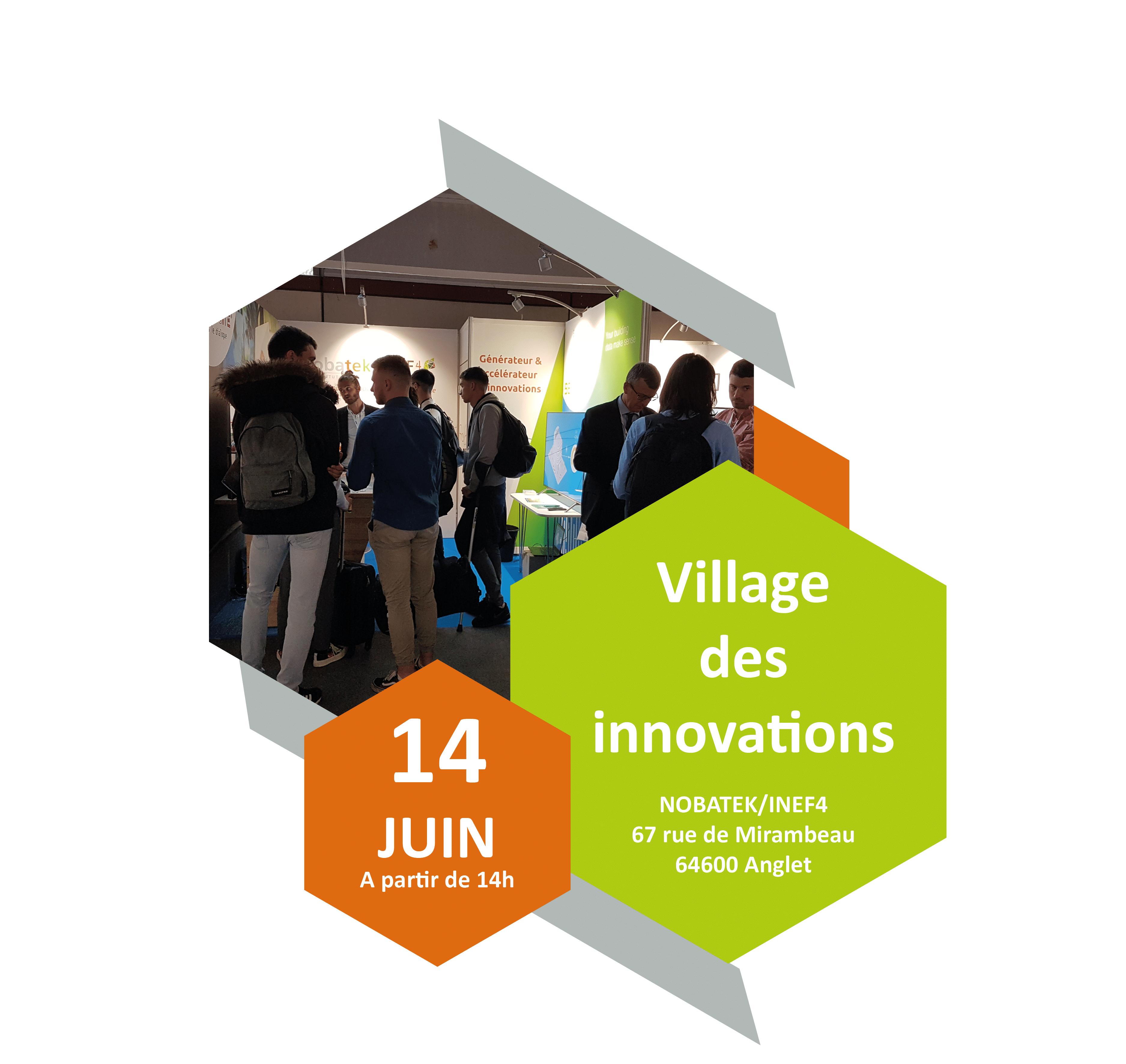 Visitez notre village des innovations le 14 juin à Anglet