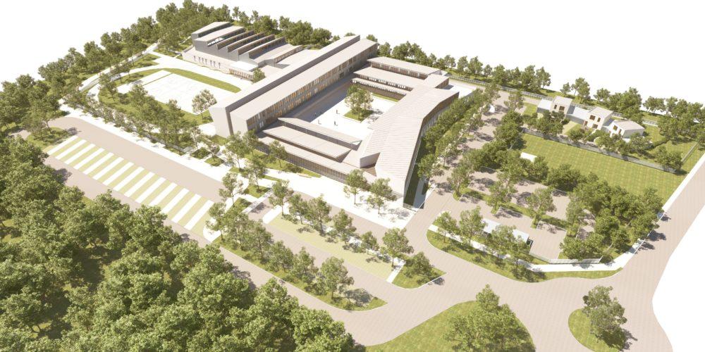 Collège Haute Gironde - Vue aérienne