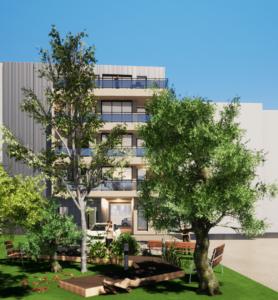Construction d'un bâtiment de logements modulaires