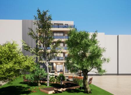 Construction d'un bâtiment de logements modulaires en centre-ville