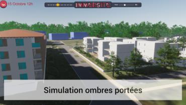 IMMERSITE - Simulation ombres portées