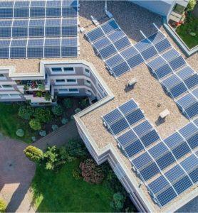 Evaluation pour une production d'électricité photovoltaïque dans un parc de logements sociaux