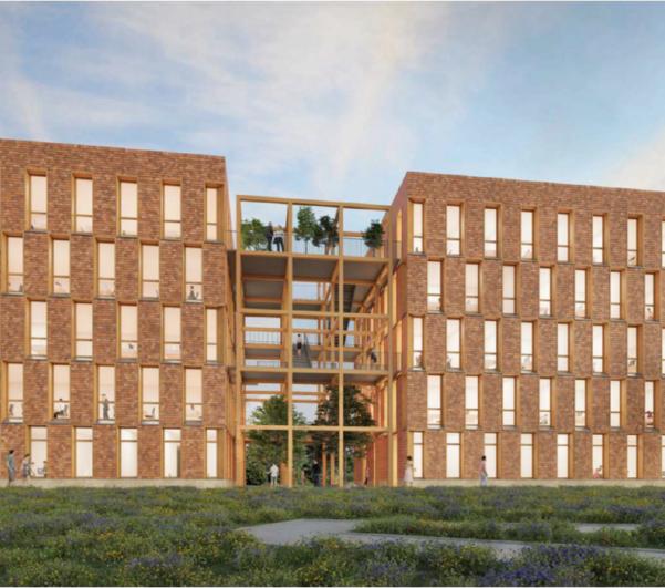 Construction de la maison de l'habitat de Périgueux (24)